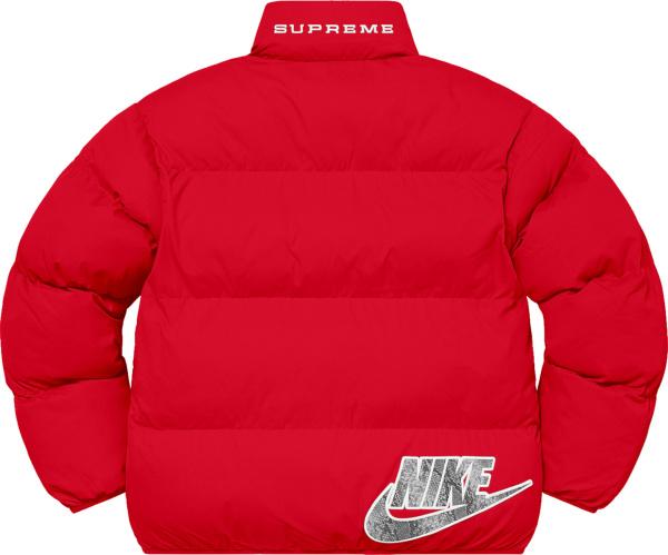 Nike X Supreme Ss21 Red Down Jacket