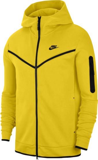 Nike Yellow Tech Zip Hoodie Cu4489 743