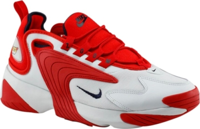 Nike Zoom 2k White And Red Sneakers