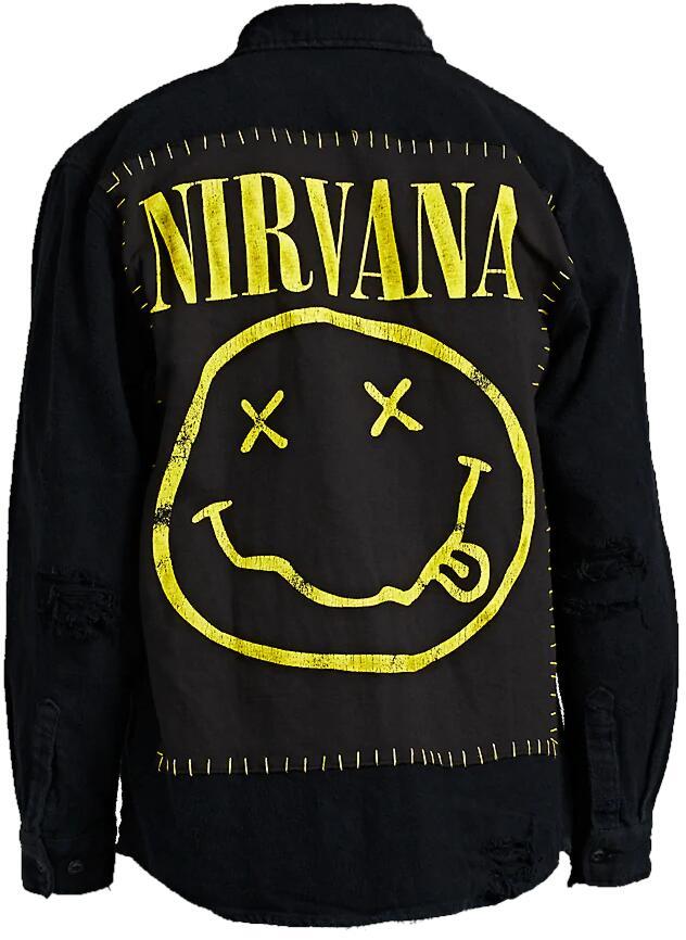 Nirvana Black Shirt Jacket