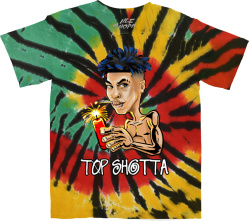 Nle Choppa Rasta Tie Dye Top Shotta T Shirt