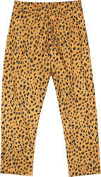 Noah Nyc Yellow Black Cheetah Print Trackpants