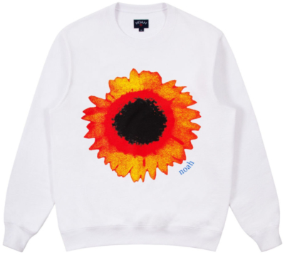Noah Orange And Yellow Sun Flower Crewneck Worn By Pusha T