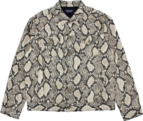 Noon Goons Beige And Black Mojave Snakeskin Jacket