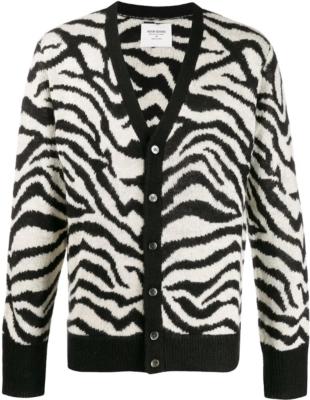 Noon Goons Zebra Print Cardigan
