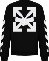 Off Whit Black Agreement Print Sweatshirt