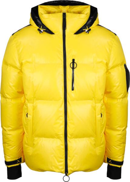 Off Whit Yellow Down Ski Jacket