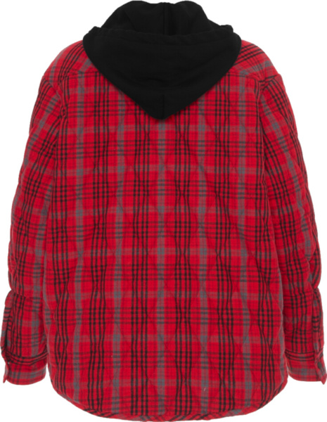 Off White Flannel Jacket Red