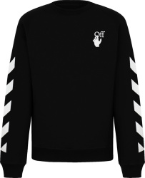 Off White Black Agreement Print Sweatshirt