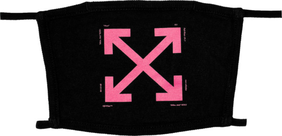 Off White Black And Pink Arrows Facemask