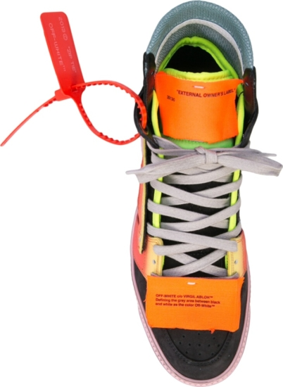 Off White Black And Rainbow Off Court 3 Sneakers