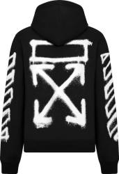 Off White Black And White Spray Diag Arrows Logo Hoodie