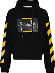 Off White Black And Yellow Diag Caraviggio Hoodie