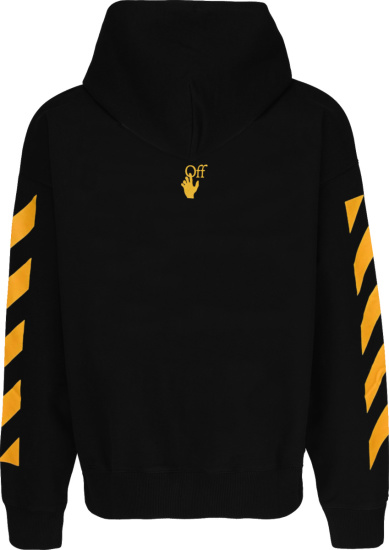 Off White Black And Yellow Diag Painting Hoodie