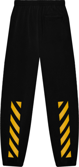 Off White Black And Yellow Diag Sweatpants