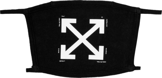 Off White Black Arrows Face Mask