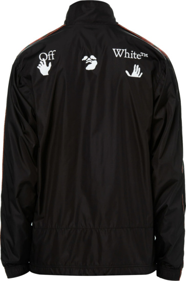 Off White Black Booking Track Jacket