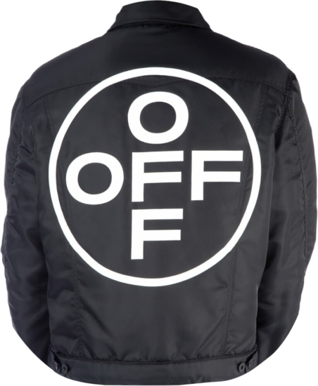 Off White Black Circle Logo Jacket