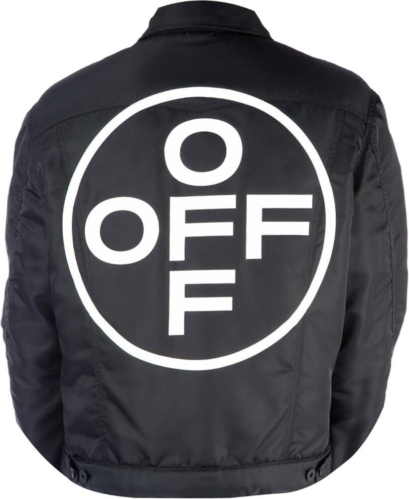 Circle-Logo Print Black Jacket