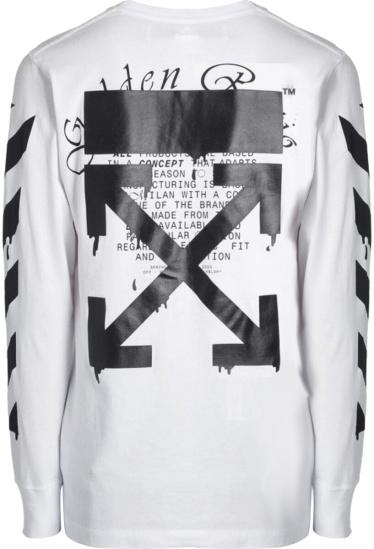 Off White Black Drip Arrow T Shirt
