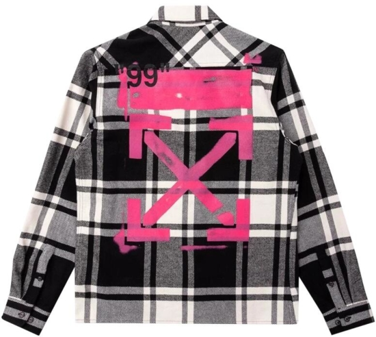 e4763deaa4b0a7 Off-White Black & White Flannel Shirt | Incorporated Style