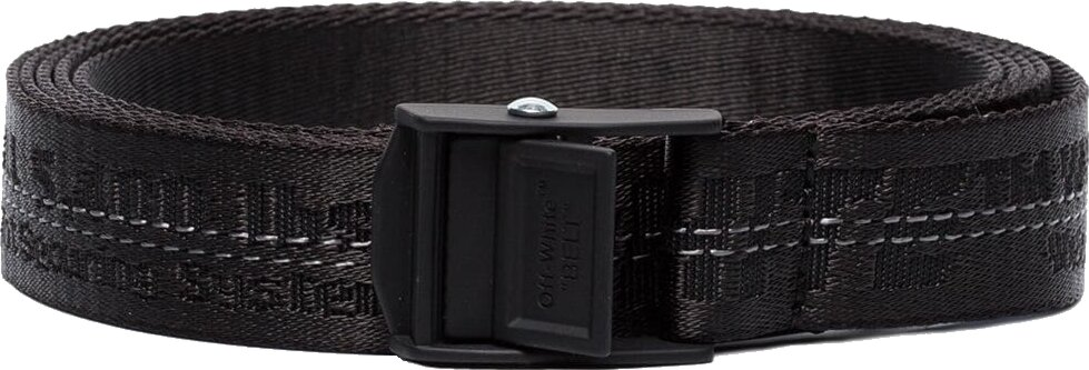 Off White Black Industrial Belt