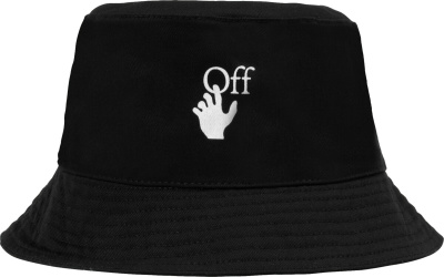 Off White Black Logo Bucket Hat