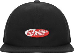 Off White Black Logo Embroidered Hat