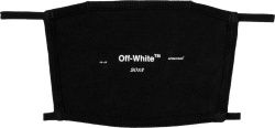 Off White Black Logo Facemask
