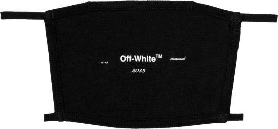 Off White Black Logo Facemask