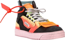 Off White Black Multicolor Off Court Sneakers