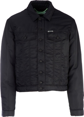 Off White Black Nylon Bomber Jacket