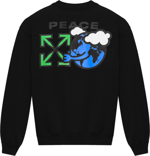 Off White Black Peace Sweatshirt