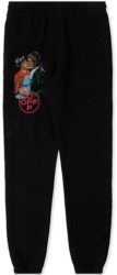 Off White Black Sweatpants With Logo And Kiss Print Worn By Tyga