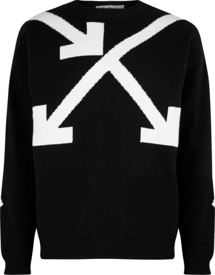 Off White Black Twisted Arrow Sweater