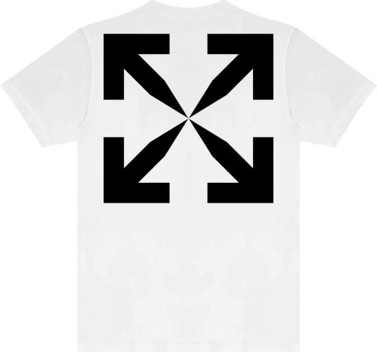 Off White Blue Mona Lisa Tape T Shirt