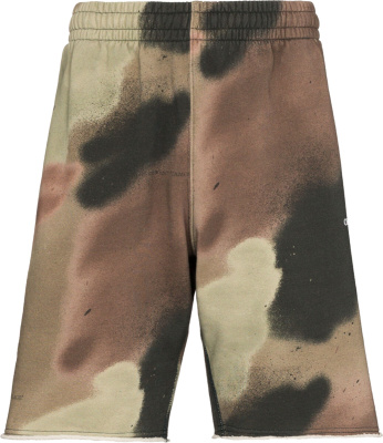 Off White Camouflage Shorts