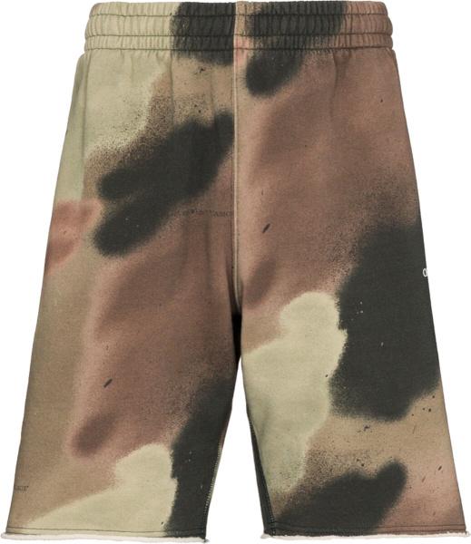 Off White Camouflage Shorts