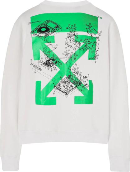 Off White Console Print Crewneck Sweatshirt