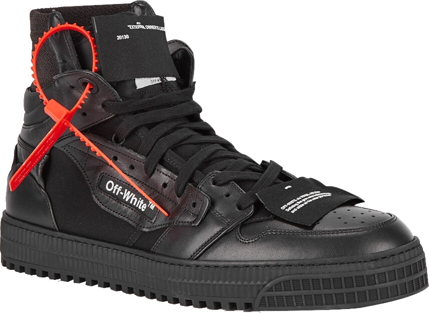 Off White Court 3.0 Total Black Sneakers