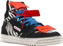 Off White Court 3.0 Zebra Print Sneakers
