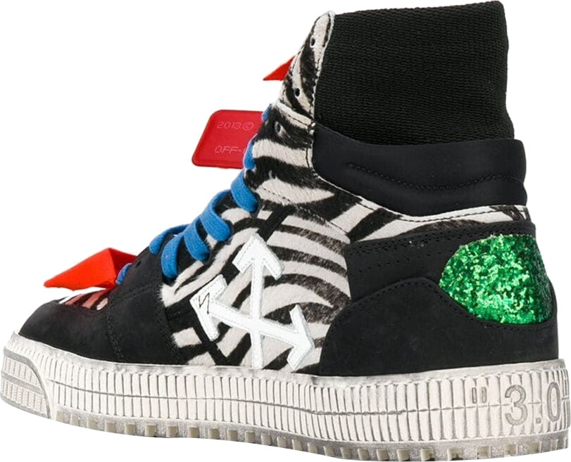 Off White Court High Top Sneakers