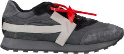 Off White Dark Grey Runner Sneakers