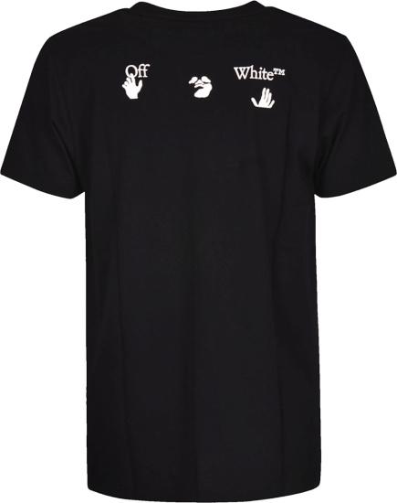 Off White Face Logo Print Black T Shirt