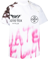 Off White Goretex Graffiti Print White T Shirt