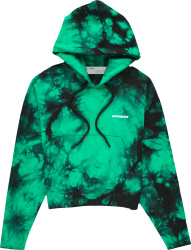 Off White Green Black Tie Dye Hoodie