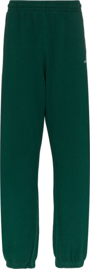 Off White Green Logo Arrow Sweatpants
