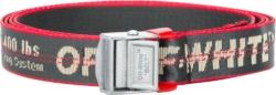 Off White Grey And Red Industrial Belt