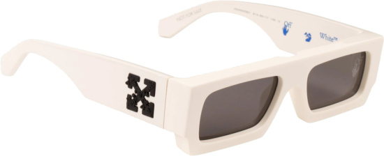 Off White Ivory Wide Sunglasses