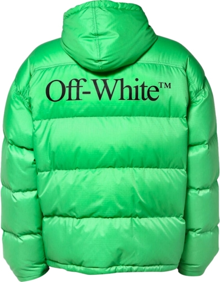 Off White Kelly Green Puffer Jacket